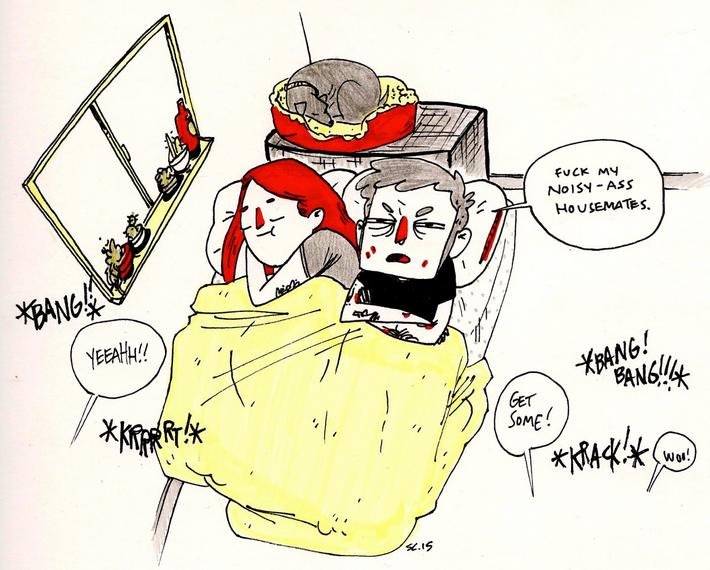 noisy housemates